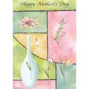 Mother's Day Card - Happy Mother's Day (White Vase) - 32190