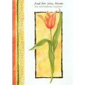 Mother's Day Card - Just For You Mum (Tulip) - 32200