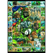 Gibsons 1000 piece Jigsaw Puzzle - G468 Endangered Species - 51116