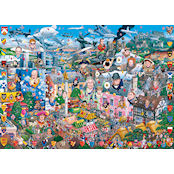 Gibsons 1000 piece Jigsaw Puzzle - G469 I Love Great Britain - 51206