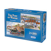 Gibsons 2x1000 piece Jigsaw Puzzles - G5010 The Port of Whitby - 52604
