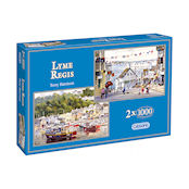Gibsons 2x1000 piece Jigsaw Puzzles - G5013 Lyme Regis - 52605