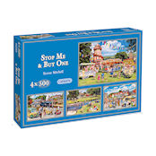 Gibsons 4x500 piece Jigsaw Puzzles - G5012 Stop Me and Buy One - 54507