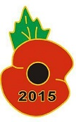 Poppy Centenary pin 1915-2015